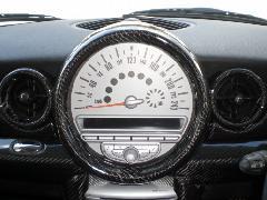 BMW MINI R55/56 センターメーターリングセット・カーボン平織