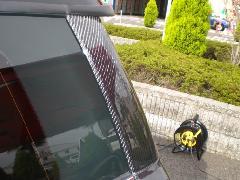 BMW MINI R55 Cピラーカバー・カーボン平織