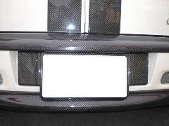 BMW MINI R55 リアライセンスプレート・カーボン綾織