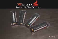 WOLFIX WOLFIXリアルカーボンショートアンテナ(ブラック)・(シルバー)