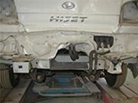 �A事故後の内部の破損状況
