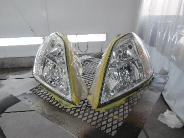 ヘッドライトコーティング ヘッドライトリペア ヘッドライトクリーニング 黄ばみ くすみ ひび割れ 復活