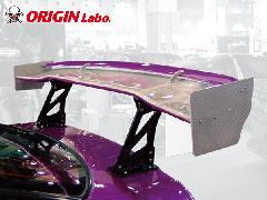 GTウイング 1600mm シルバーカーボン製ダブルウイング 3D形状