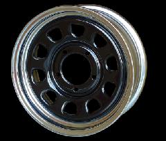 ORIGIN ジムニー 鉄心 16インチ 6J+20 ホイール ブラック×クローム