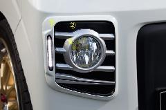 ALLURE DA17W エブリイワゴン フォグライトガーニッシュ 3色ペイント ミニデイライト付