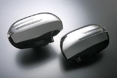 BRASSEN スタイリッシュウィンカーミラーキット 20系アルファード・ヴェルファイア用 ブラッククローム