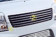 エブリーワゴン 5型 PZ系 ALLURE フロントグリル 2P 2色ペイント メッキモール付