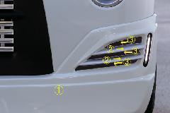 エブリーワゴン 5型 PZ系 ALLURE フロントハーフスポイラー/ミニデイライト付 3色ペイント(デモカーペイント)
