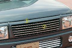 ALLURE HE21S ラパン フロントグリル 2色ペイント メッキモール付