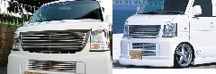 Winterキャンペーン中!!エブリーバン (DA64V)ALLURE フロントグリル 1色ペイント メッキモール付+フロントバンパービレットSET割