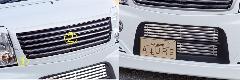 Summerキャンペーン☆エブリーワゴン 5型 PZ系 ALLURE フロントグリル 2P 2色ペイント メッキモール付+フロントバンパービレット