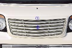 アトレーワゴン(S321G)前期 ALLURE フロントグリル 2色ペイント メッキモール付