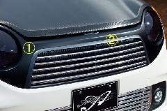 N‐ONE/Premium・標準共通 ALLURE フロントグリル 2色ペイント メッキモール付