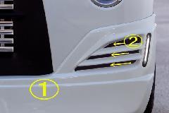 Summerキャンペーン中!!エブリーワゴン 5型 PZ系 ALLURE フロントハーフスポイラー/ミニデイライト付 2色ペイント