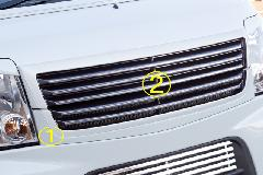 Summerキャンペーン中!!エブリーワゴン 5型 PZ系 ALLURE フロントグリル 2P 2色ペイント メッキモール付