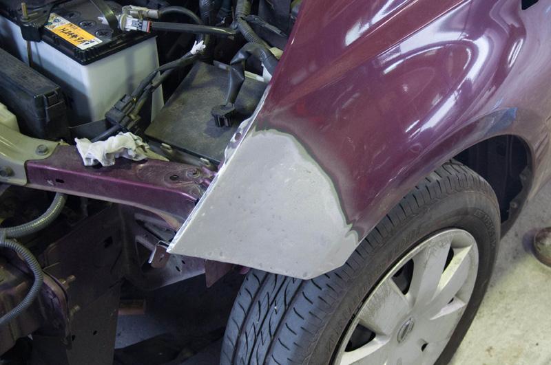 Frバンパー&Frフェンダー修理 ヘッドライト交換 Before