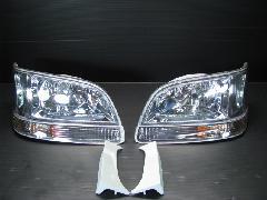 100K-012 後期型ワゴン ヘッド&ウィンカー 4点キット <クロームインナー>