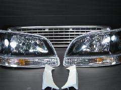 100K-015 後期型ワゴン ヘッド・ウィンカー・グリル5点キット <ブラックインナー>