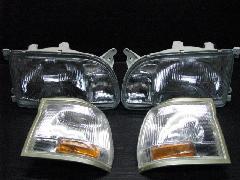 100C-007 中期型ワゴン ヘッドライト&コーナーレンズ 4点セット