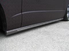 ESTIRO 200系ハイエース �V型 ナロー用 サイドステップ(メッキモール付き)未塗装