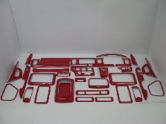 200I-042 200系ハイエース ワイド用 インテリアパネル33pcs レガーナレッド