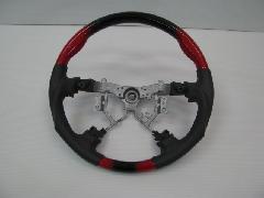 200I-019 200系ハイエース 赤黒グラデーション ステアリング