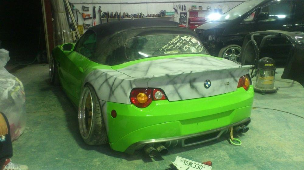 E85 BMW Z4 2.5i一体延長加工
