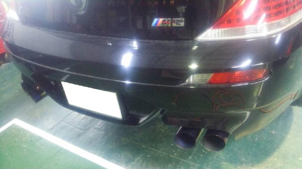 BMW M6 可変式ワンオフマフラー