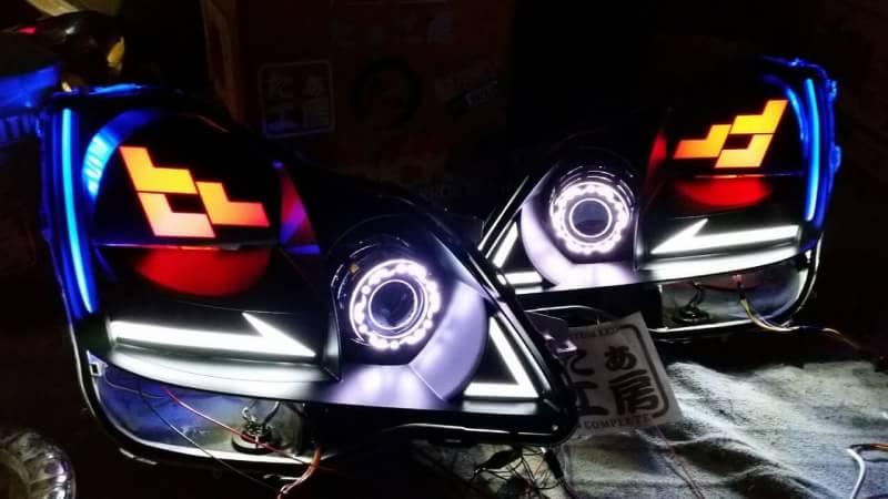 18クラウン ヘッドライト LED加工