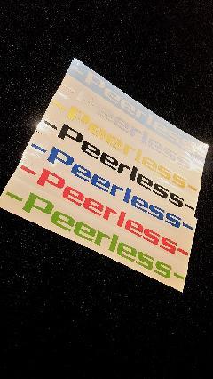 peerless ローマ字 ステッカー