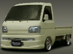 ハイゼットトラックフロントバンパー(S200P前期ビレッドグリル付)