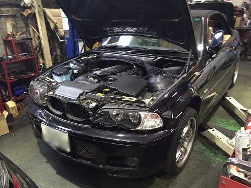 東京墨田区のBMW330 エンジン始動不能修理