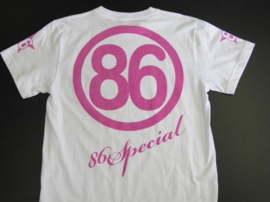 オリジナルTシャツNO2 白字 ピンク文字 Lサイズ