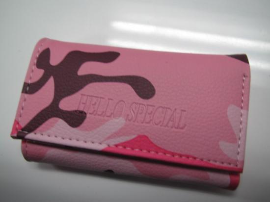 キーケース ピンク