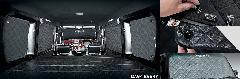 ラグジュアリーブラインドシェード(フロント3面セット) エブリィエースワゴン(DA64W)用