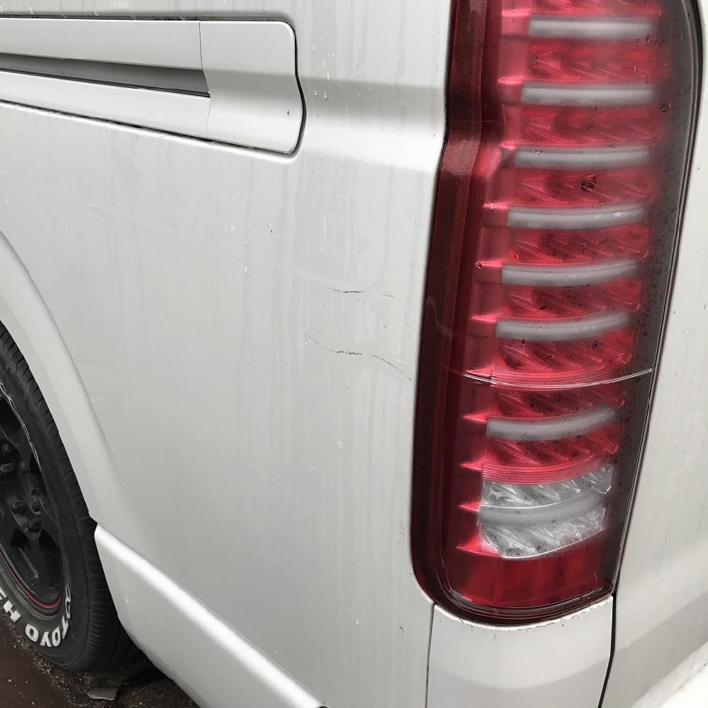 トヨタ ハイエース サイドスリキズ修理