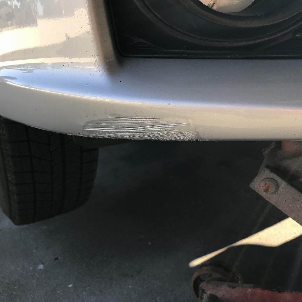 トヨタ アリオン フロント右スリキズ修理