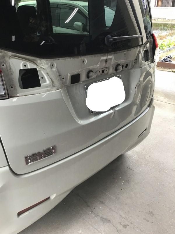 三菱 デリカD2 バックドア リアバンパー 修理 取替 スズキソリオ
