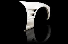 180SX全年式 ツインダクト +55mm  フロントフェンダー 片側