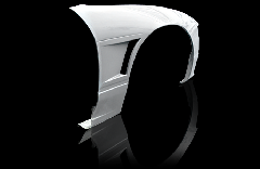180SX全年式 シングルダクト +20mm  フロントフェンダー 左右セット