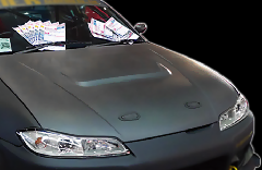 S15 シルビア 全年式/Type1 ボンネット CB-05-silver Silver carbon