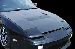 180SX全年式/Type1 ボンネット CB-04-carbon Black carbon