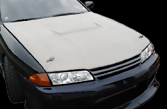 R32 スカイライン全年式 Type1 ボンネット CB-16-white-CSM FRP