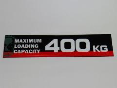 積載量ステッカー400キロ英字