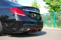 C-Class W205用 s.d.f star design factory社製 Painted Trunk spoiler