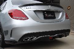 C-Class W205用 s.d.f star design factory社製 Carbon Hybrid Trunk spoiler