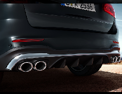 AMG リアディフューザー+マフラーエンド GLC43