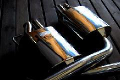 C-Class W/S/C205 Rear muffler all stainless(C43)