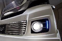 N BOX CUSTOM ALLURE フォグライトガーニッシュ 2色塗装 ミニデイライト 取り付け込価格