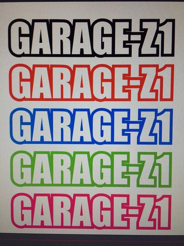 GARAGE-Z1ステッカー